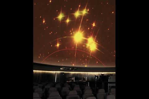 State-of-the-art laser projects are used for the show